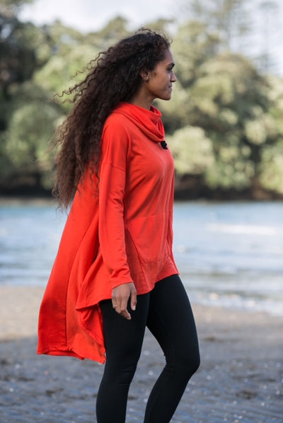 Merino Hooded Assymetric Top