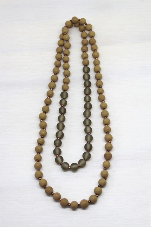 Truffle Bead Necklace