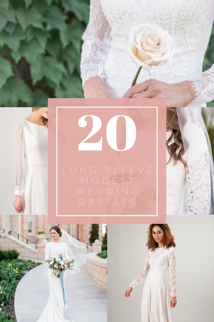 top 20 modest wedding dresses with long sleeves from LatterDayBride, a modest wedding dress shop in Salt Lake City, Utah.