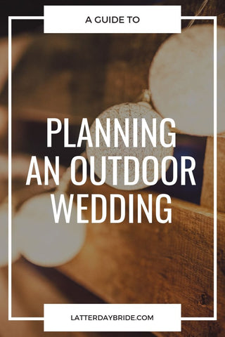 Outdoor Wedding Tips