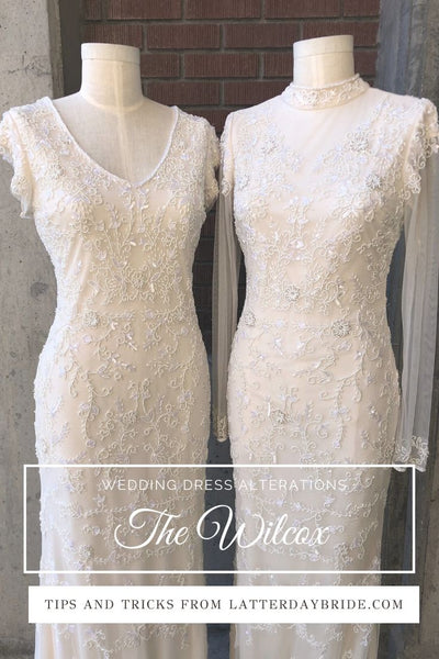 The wilcox modest wedding dress