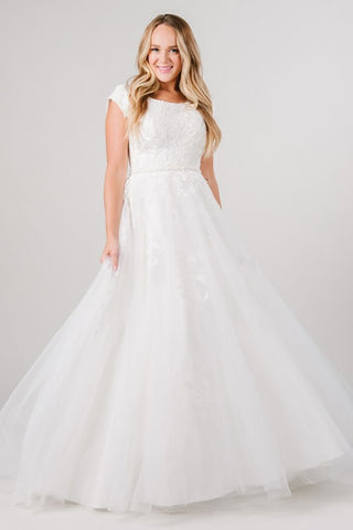 simple modest wedding dress ballgown