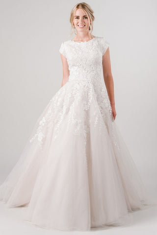 modest wedding dress ballgown
