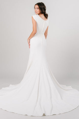 modern modest wedding dress
