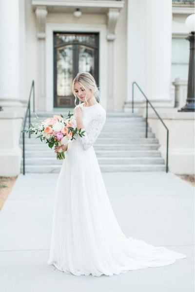 Winter Modest Wedding Dress