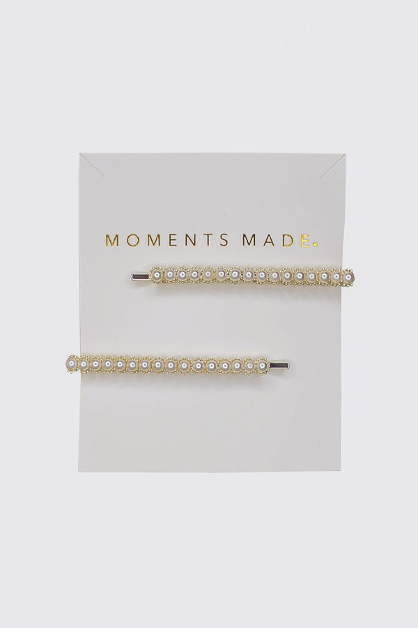 The classic perfect touch for your hair. These pearl clips are a great little addition that will have friends loving your style.  These barrettes are our newest arrivals and we are sure you are going to love them just as much as we do! The trendiest accessory available to perfectly wear individually, or mix and match