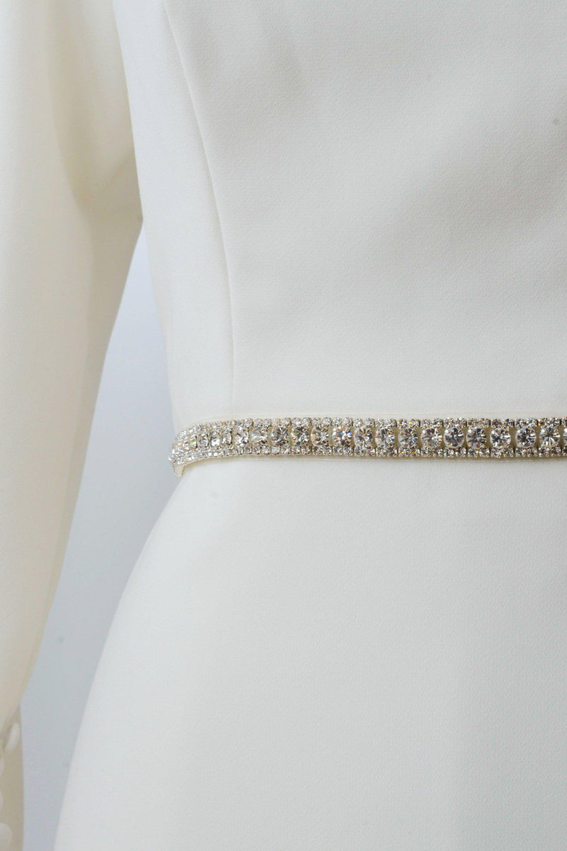Silver, square belt from bridal shop in salt lake city utah