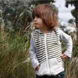 Charcoal Stripe Reversible Vest
