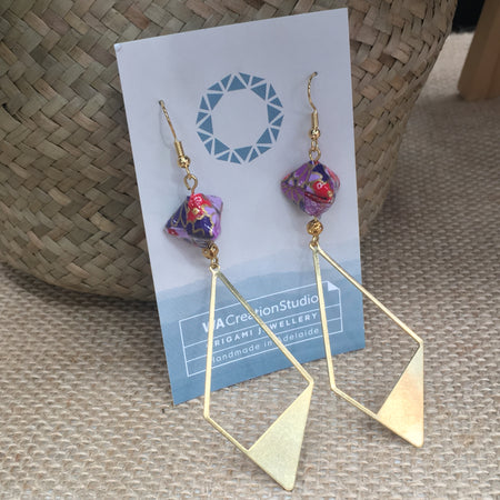 Origami Embellished Earrings