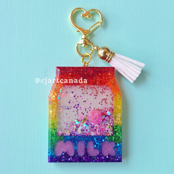 Resin MILK CARTON Keychain