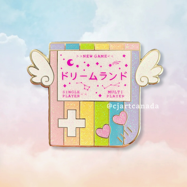 """Dreamland"" Gameboy Charity Pin"