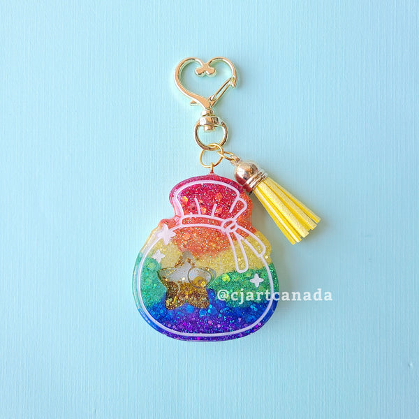 Resin Bell Bag Keychain