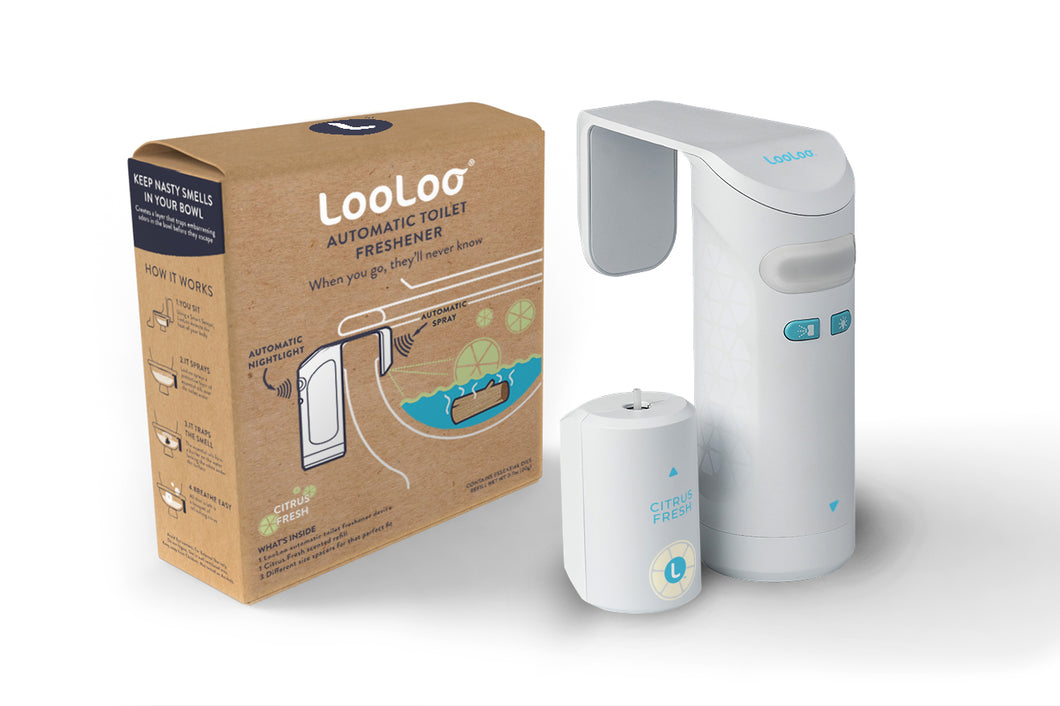 LooLoo Automatic Toilet Freshener with Citrus Fresh Refill