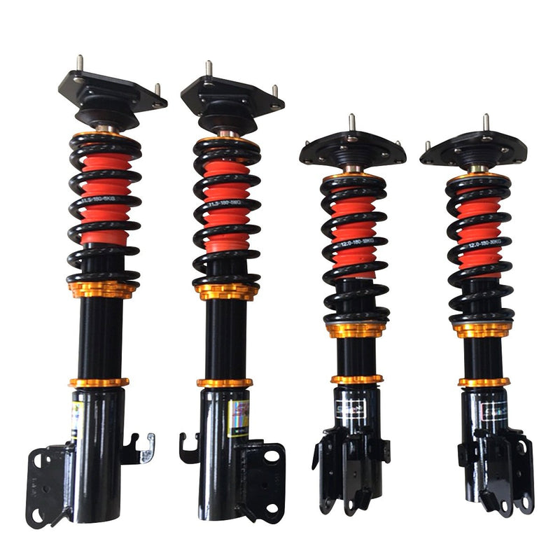 SF Racing Track Coilovers - 1996-1998 Mitsubishi Lancer Evolution IV (CN9A)