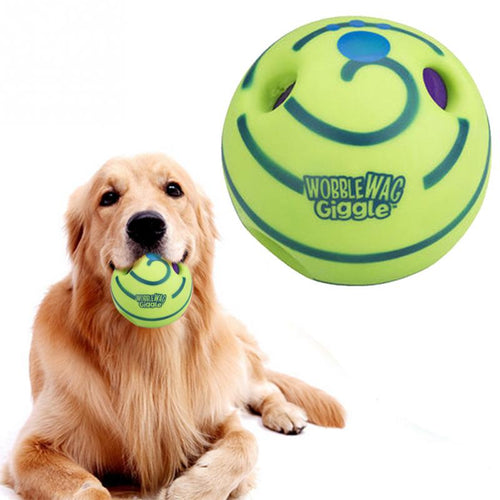 Pet Dog Wobble Wag Giggle Ball Dog