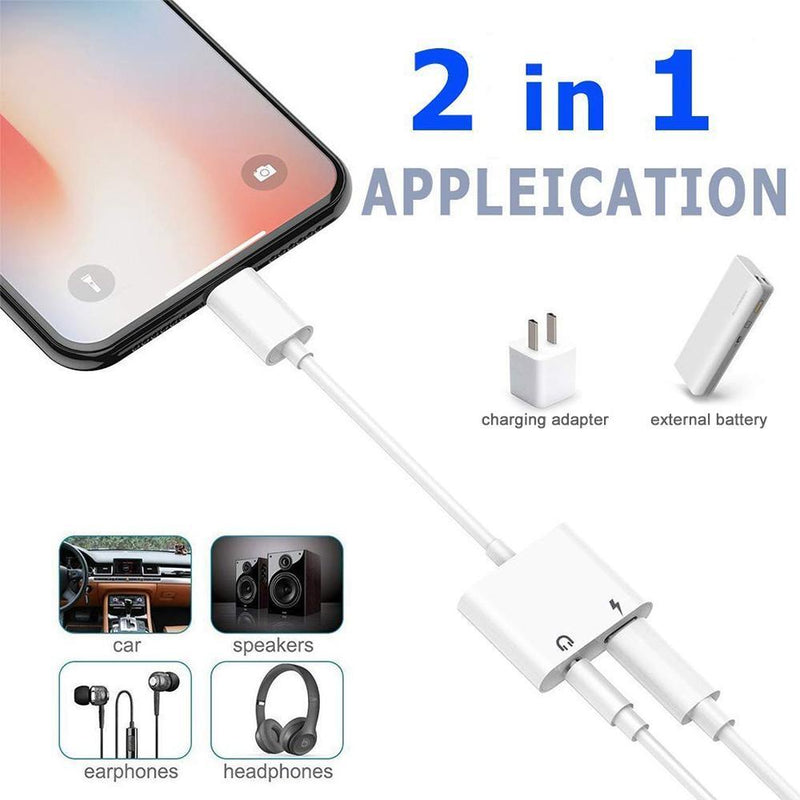 Hirundo Headphone Jack Adapter Compatible for iPhone - PAPA BEAR HOME