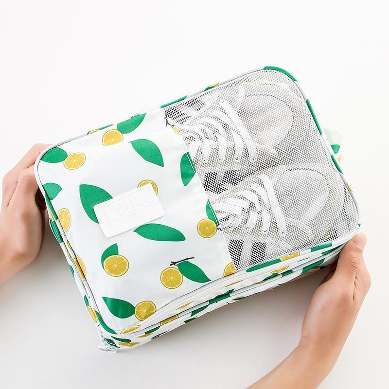 Foldable Waterproof Travel Shoe Bag Holds 3 Pair of Shoes