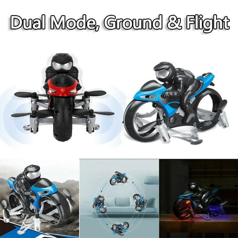 2 in 1 Land & Air Remote Control Flying Motorcycle
