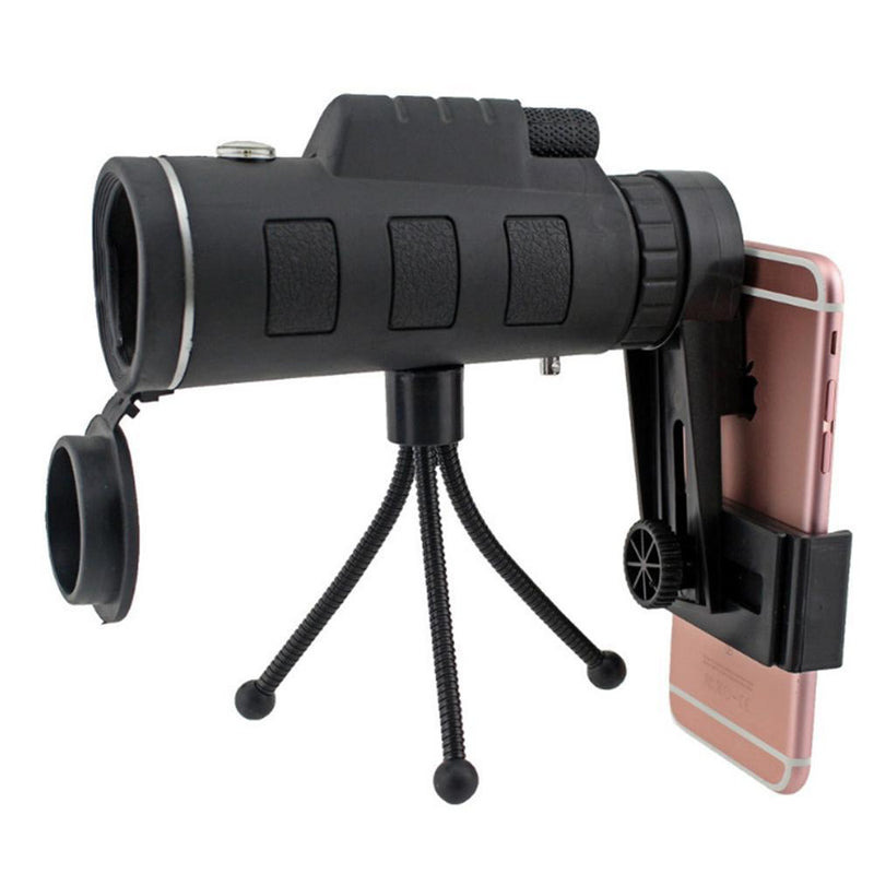 12X50 High Power Monocular Telescope With Smartphone Adapter and Tripod - PAPA BEAR HOME