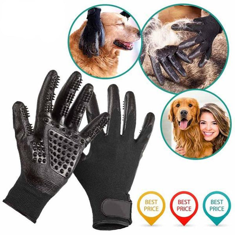 Pet Grooming Gloves For Cats, Dogs & Horses ( 1 pair )