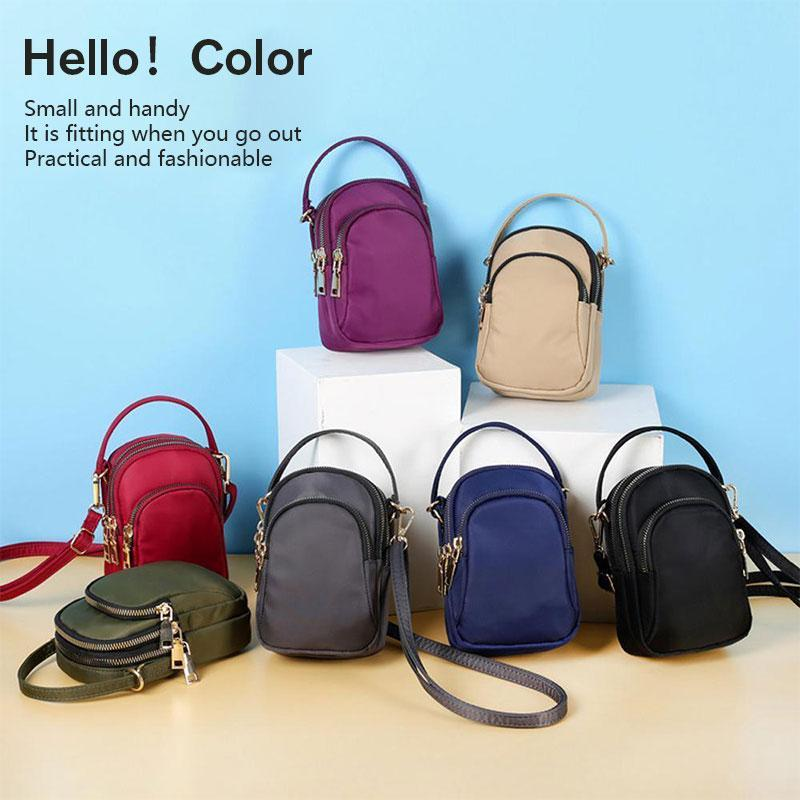 Small colored shoulder bag for women