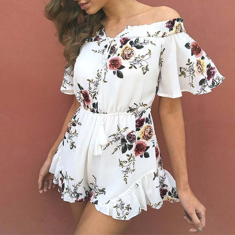 Summer Floral Chiffon Rompers - PAPA BEAR HOME