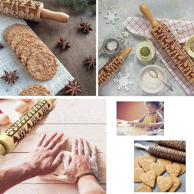 Amazing Christmas Embossing Rolling Pin