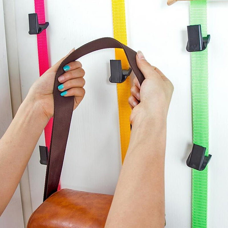 The multifunctional carrying strap over the door