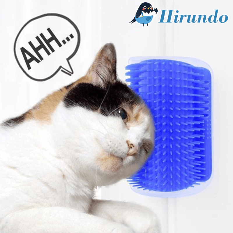 Hirundo Cat Self Grooming Brush Perfect Massager Tool for Cats - Blue/Gray - PAPA BEAR HOME
