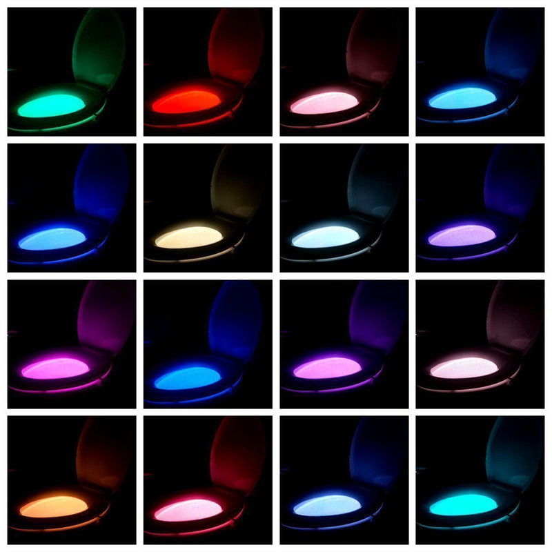 Hirundo 16-Color Motion Sensor LED Toilet Night Light - PAPA BEAR HOME