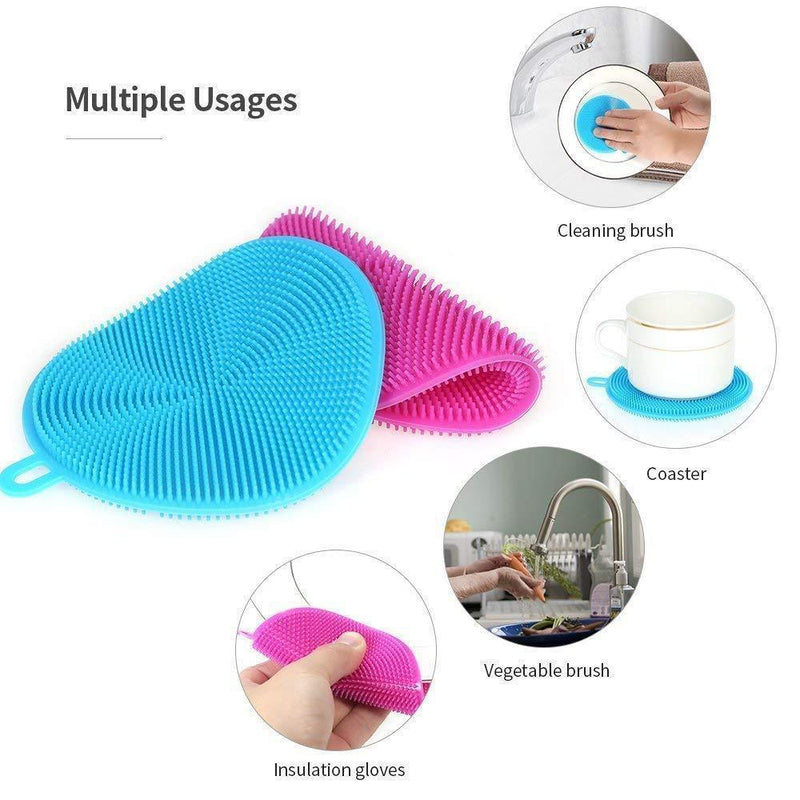 All-purpose sponge, eco-friendly and antibacterial, 5 pieces
