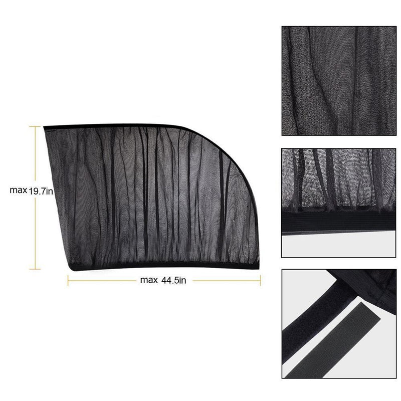 Car Side Window Shade, 2 Packs - PAPA BEAR HOME