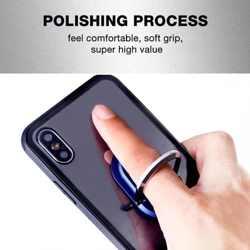 Portable multi-purpose mobile phone holder ring