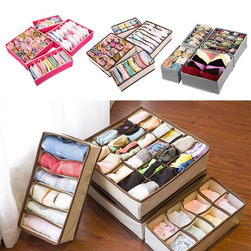 Foldable Wardrobe Underwear Organizer (4 pcs in set)