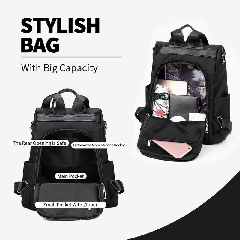 Waterproof stylish bag, as a backpack or shoulder bag