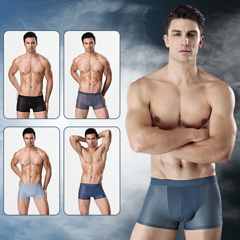Breathable Ice Silk Men's Honeycomb Design Underpants
