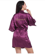 Load image into Gallery viewer, Satin Wedding Kimono Robes