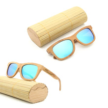 Load image into Gallery viewer, Personalized Engraved Bamboo Sunglasses Wood Custom Sunglasses With Case Box Wedding Gift Favors Groomsmen Bridal Party Gift