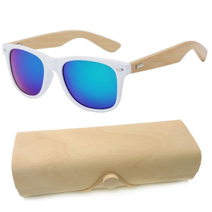 Personalized Engraved Bamboo Sunglasses Wood Custom Sunglasses With Case Box Wedding Gift Favors Groomsmen Bridal Party Gift