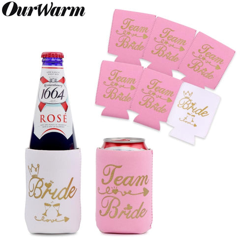 OurWarm 12pcs Bachelorette Party Neoprene Beer can Cooler Sleeve Bottle Cozy Beer can Holder Bridal Shower Wedding Party Supplie