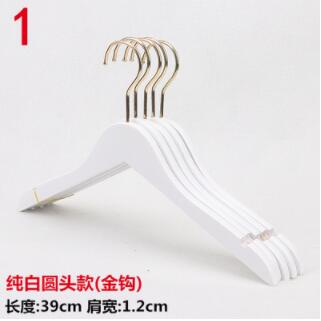 Wedding 10pcs/lot adult wood hanger white wooden hangers for clothes rack women top grade hanger gold hook(30pcs can LOGO)
