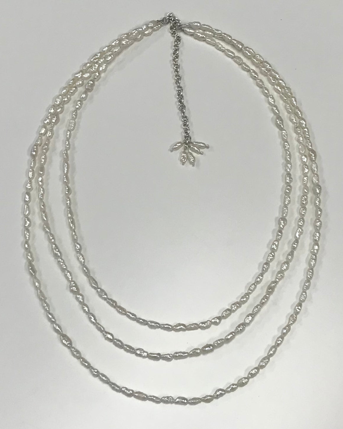 Tripple Strand Pearl Necklace
