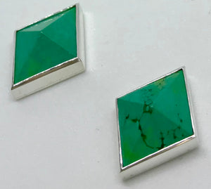 Turquoise Pyramid Studs