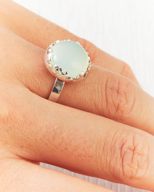 Chalcedony Frost Ring