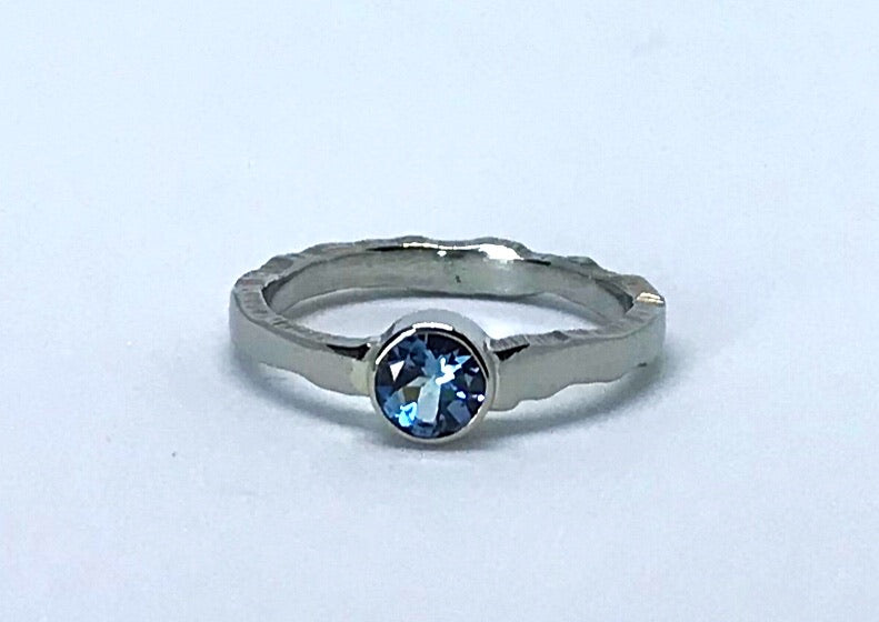 Aquamarine Ridge Ring