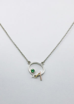 Abstract Emerald Necklace