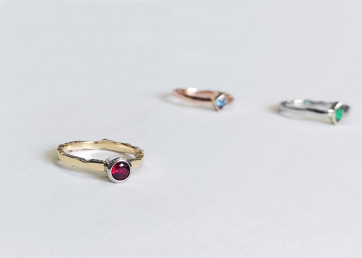 Lab Grown Ruby Ridge Ring