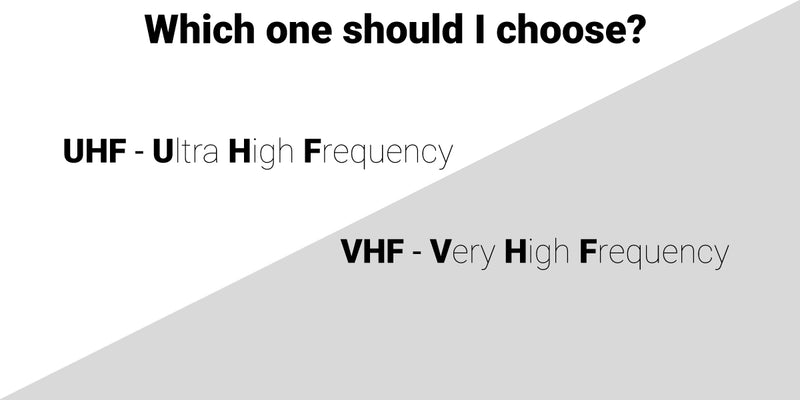 UHF vs VHF - Learn about radio frequencies