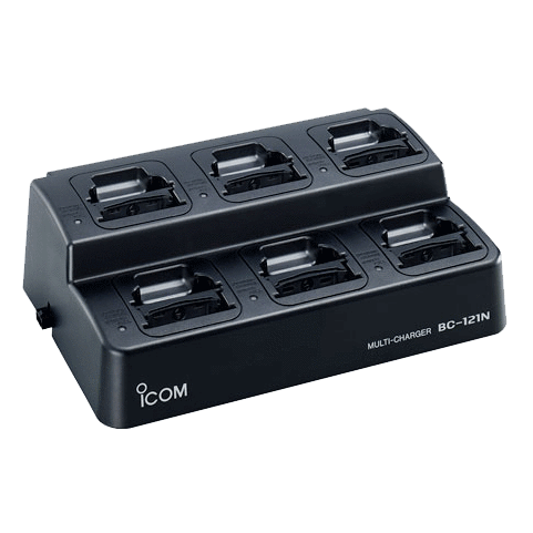Icom-Accessory-ICOM BC121NS Six Unit Charger-ICOM BC121NS Six Unit Charger Kit, Includes BC121N + (6) AD110 cups. Requires BC157S AC Adapter (order separately)-Radio Depot