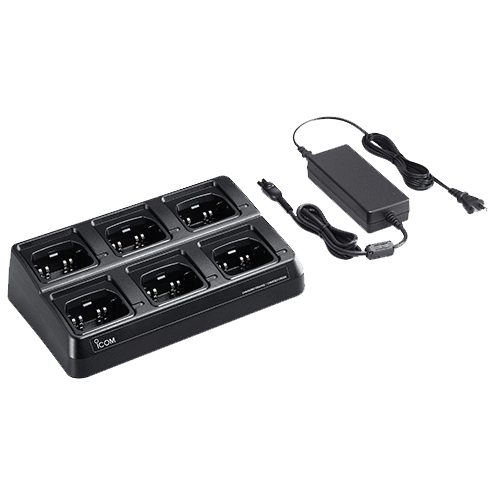 Icom-Accessory-ICOM BC214 Six Bank Charger-ICOM BC214 Six Bank Charger with US plug and cups installed-Radio Depot
